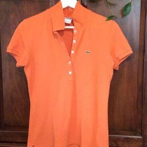 Lacoste polo bright orange Sz 40
